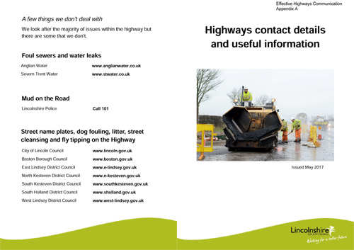 highways contacts